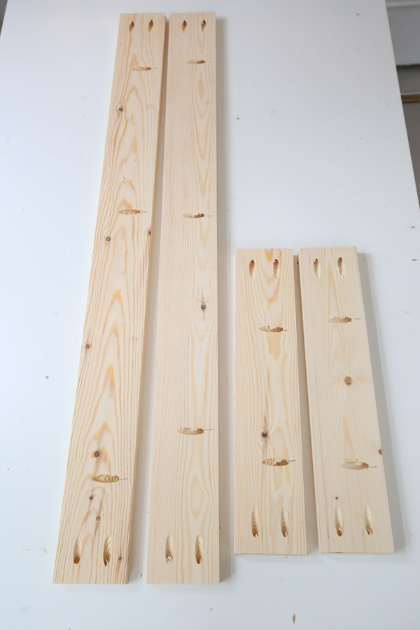 add pocket holes to desk apron boards