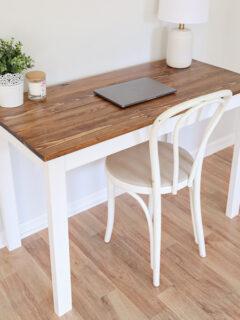 diy wood computer desk