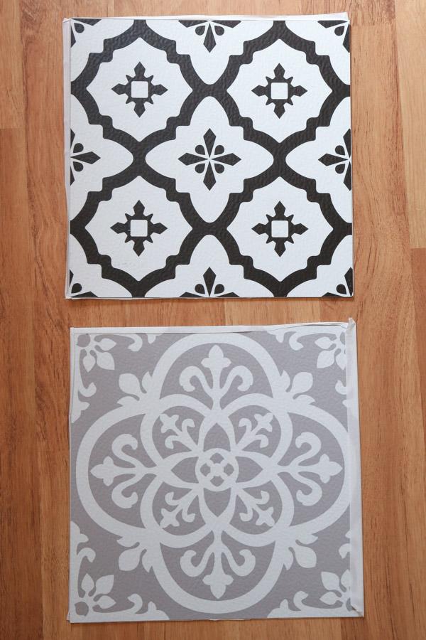 two cute peel and stick vinyl floor ideas for budget bathroom flooring