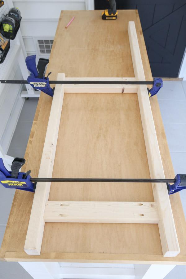 assemble potting bench sides