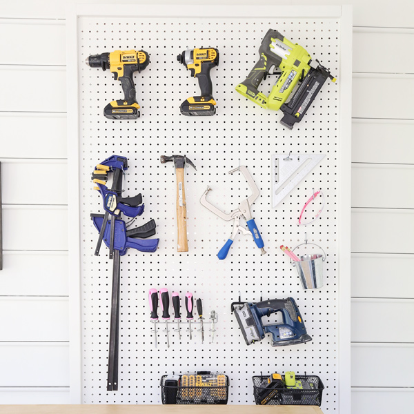 DIY pegboard for tools