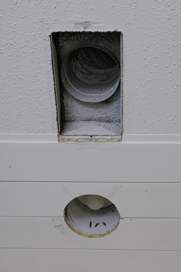 shiplap bathroom ceiling DIY and making special shiplap cuts for vents and lights