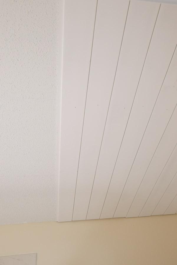 installing shiplap on ceiling
