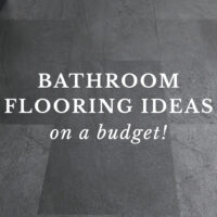 budget bathroom flooring ideas