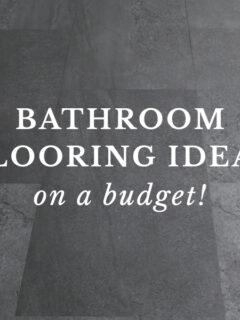 budget bathroom flooring ideas
