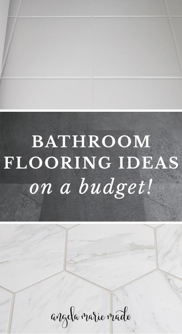 bathroom flooring ideas on a budget
