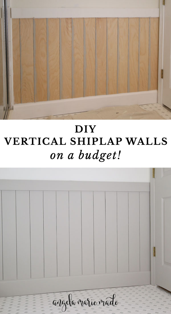 how to install vertical shiplap walls