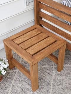 DIY outdoor side table