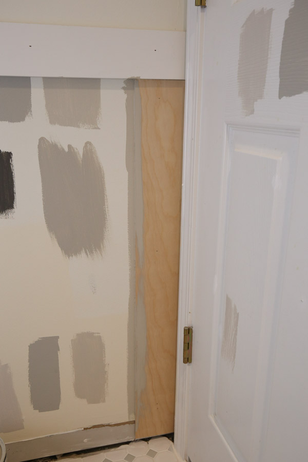 paint in between shiplap board gaps