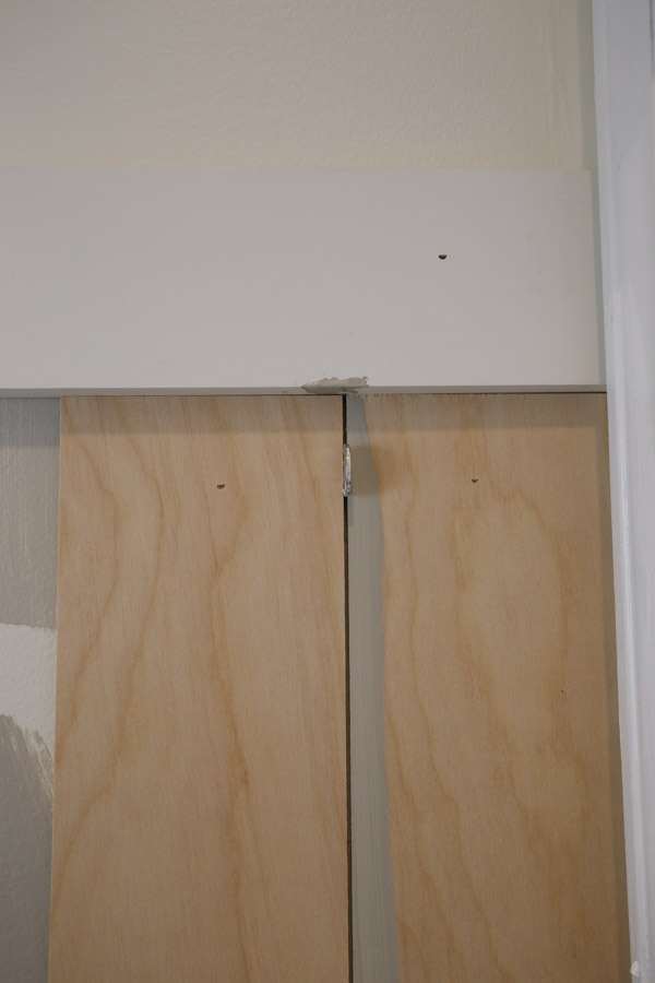 use nickels for vertical shiplap board spacers