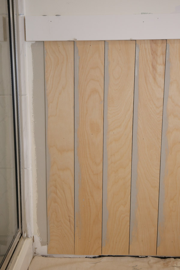 vertical shiplap wainscoting and how to cut last shiplap board on wall