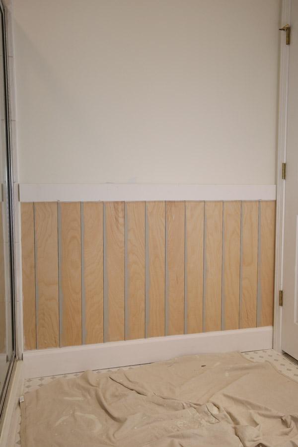 vertical shiplap walls