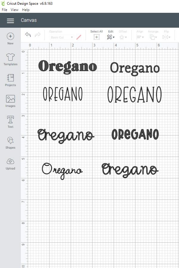 font options in Cricut design space
