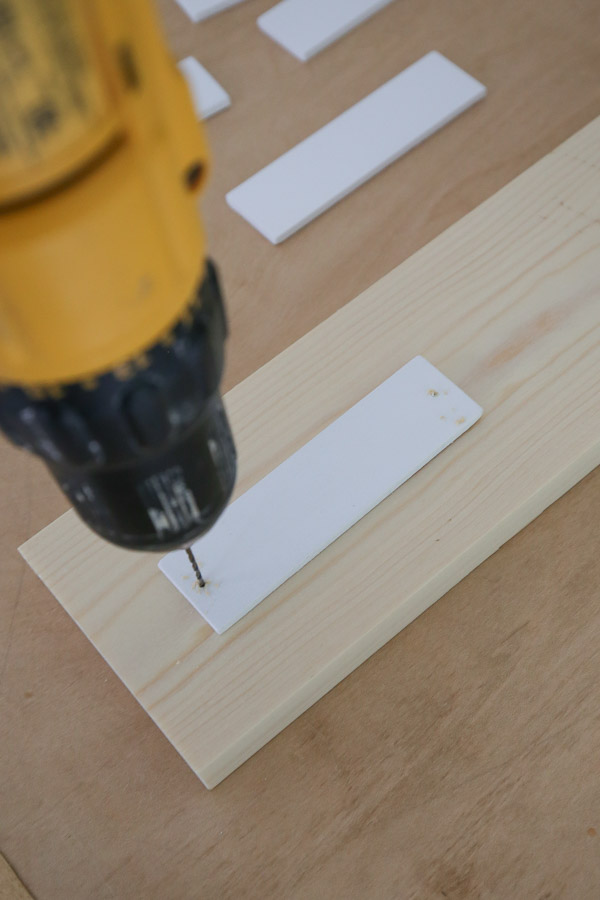 drill holes for nails for wood plant markers