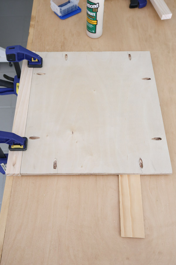 attach 1x2 to plywood