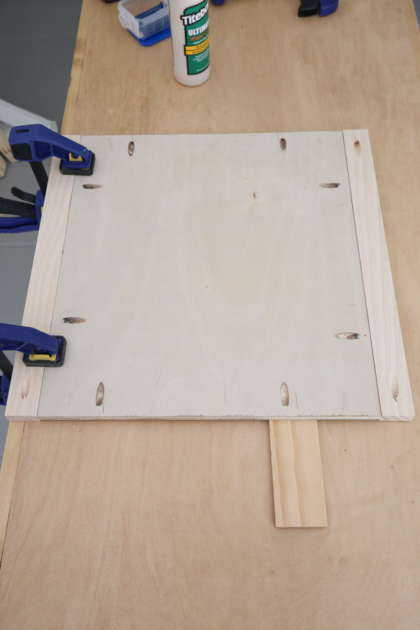 attach other 1x2 to plywood
