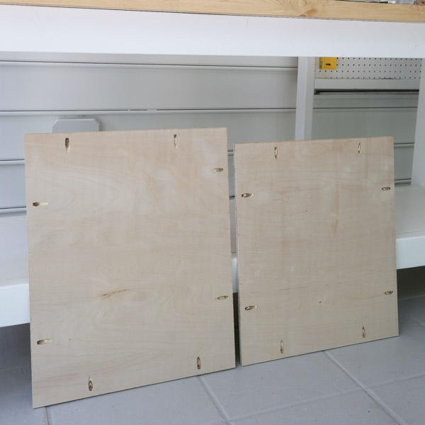 plywood with pocket holes for vanity shelves