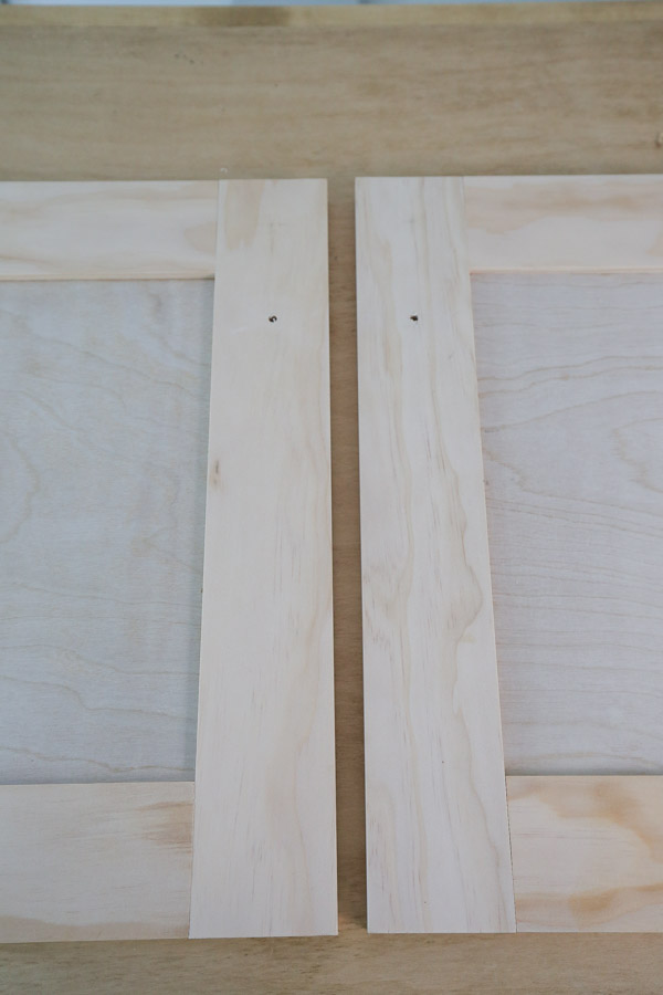 knob holes drilled into doors