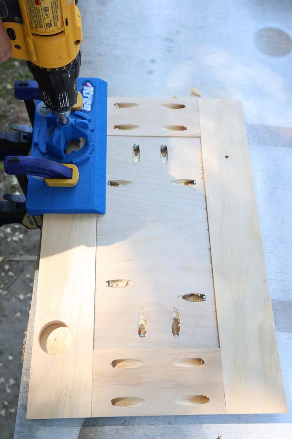 using kreg concealed hinge jig on door