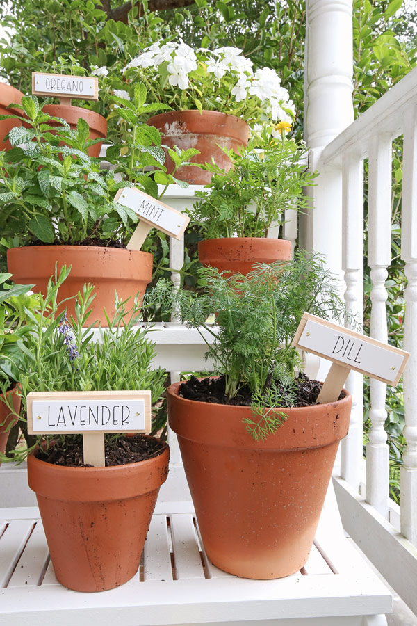 wooden DIY plant markers