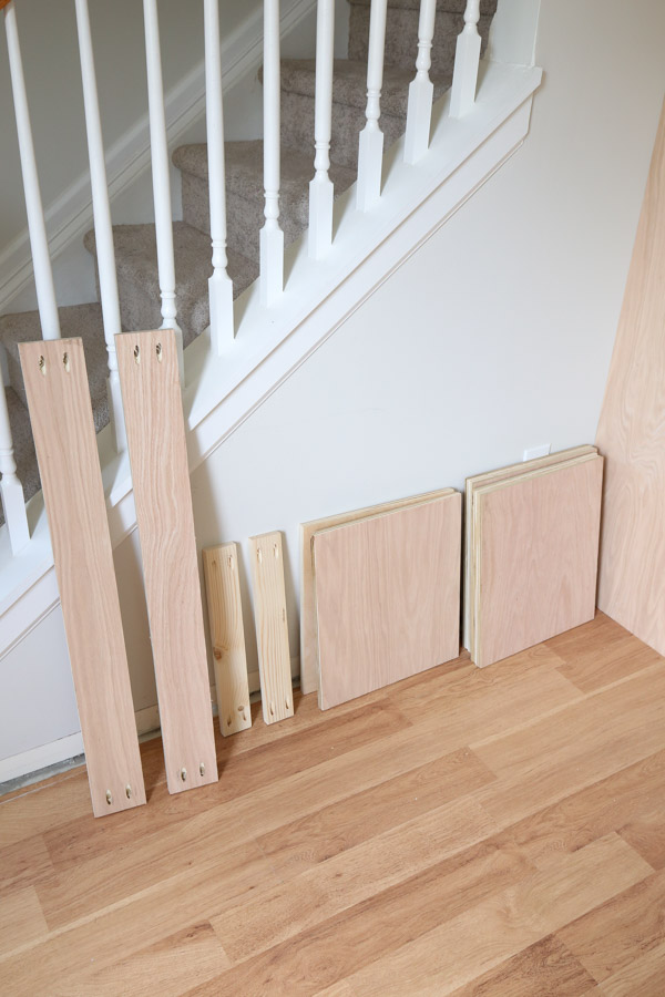 lumber for built in bench with pocket holes