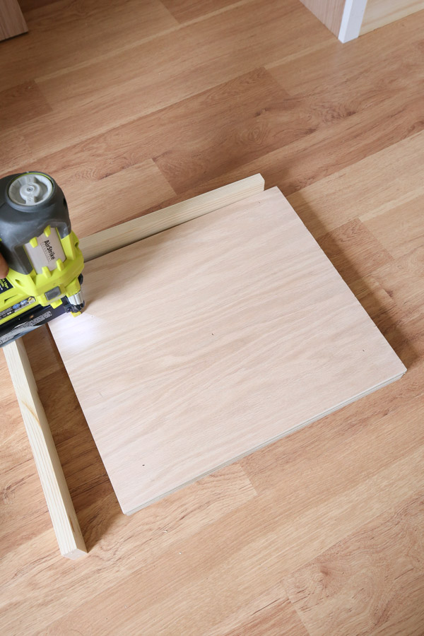 nailing two plywood boards together