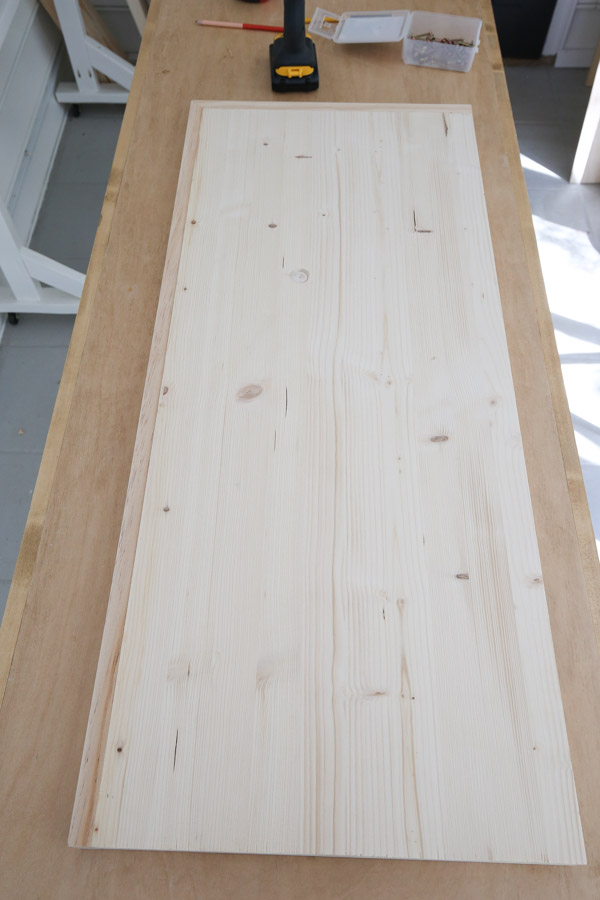 top view of the assembled bench top