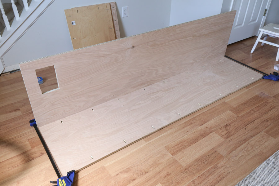 attaching built in cabinet frame together with kreg screws
