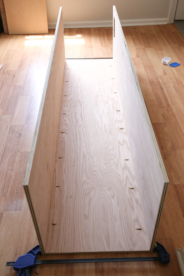 attaching sides to built in cabinet frame