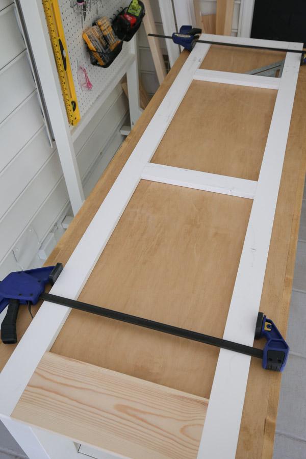 building the cabinet door frame