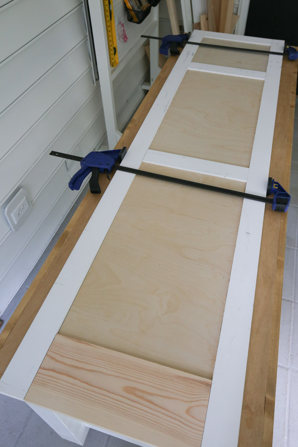 building the diy built in cabinet door frame and testing out plywood cuts