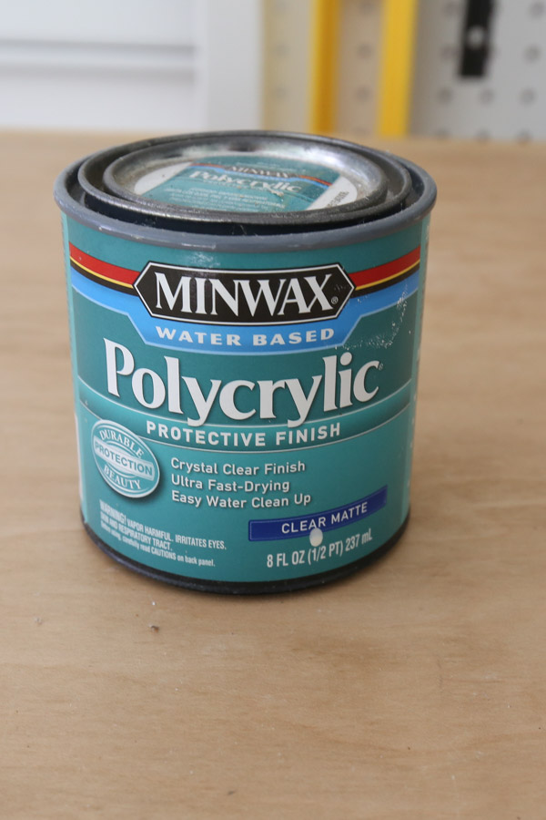 can of minwax water based polyurethane