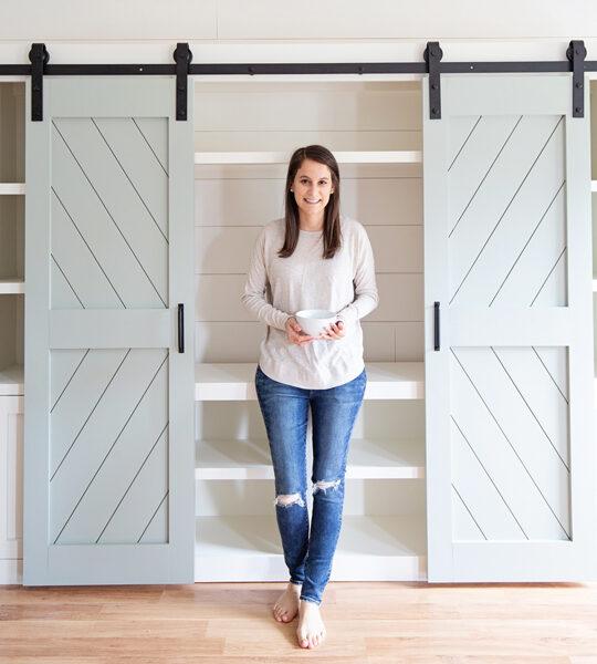 Angela and DIY barn doors