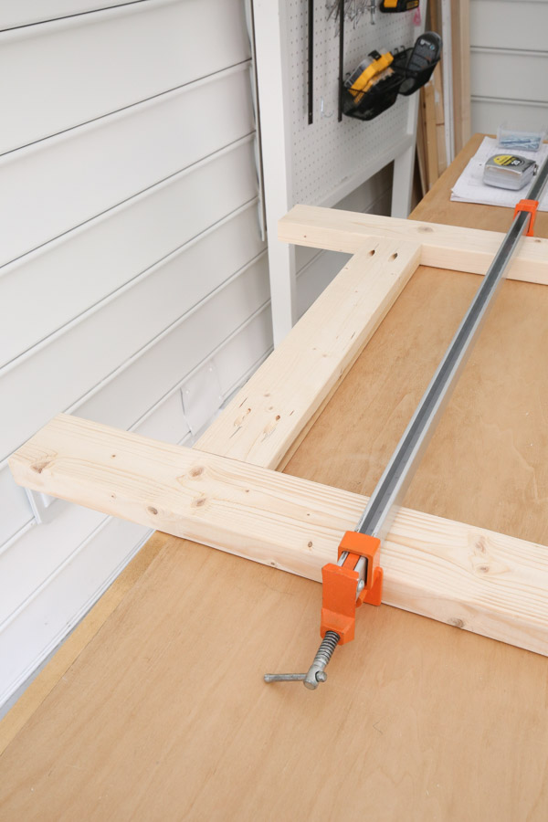 attach front 2x4 frame together