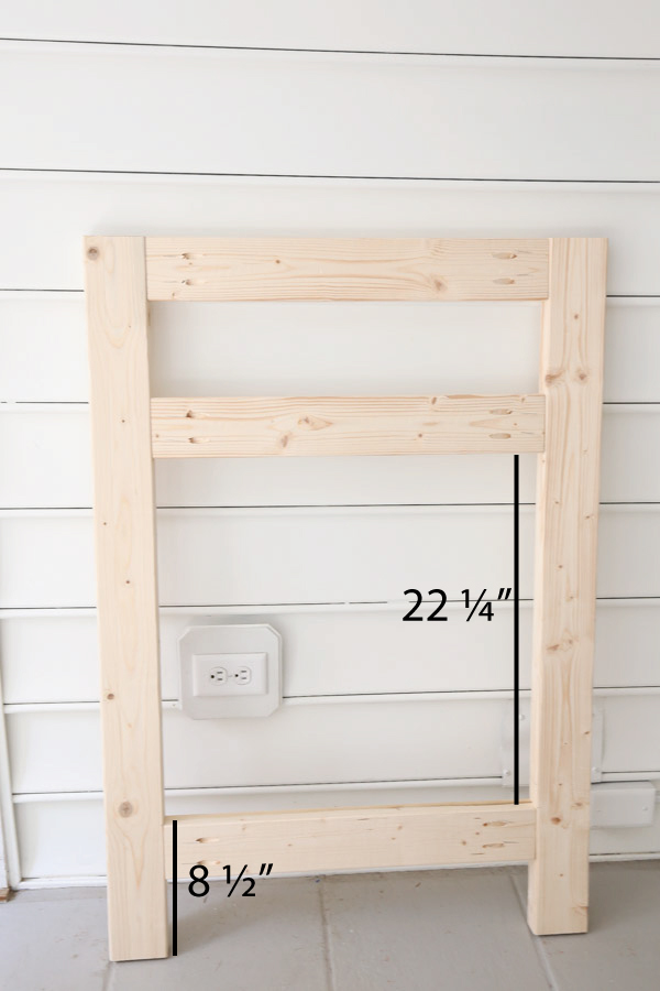 front frame of fireplace with 2x4s and pocket holes