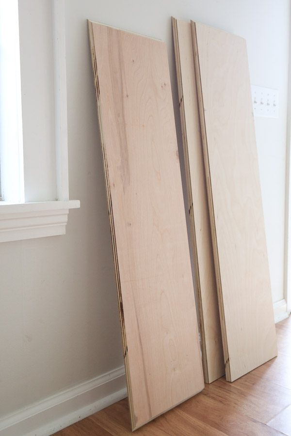 side board plywood cuts with beveled edges