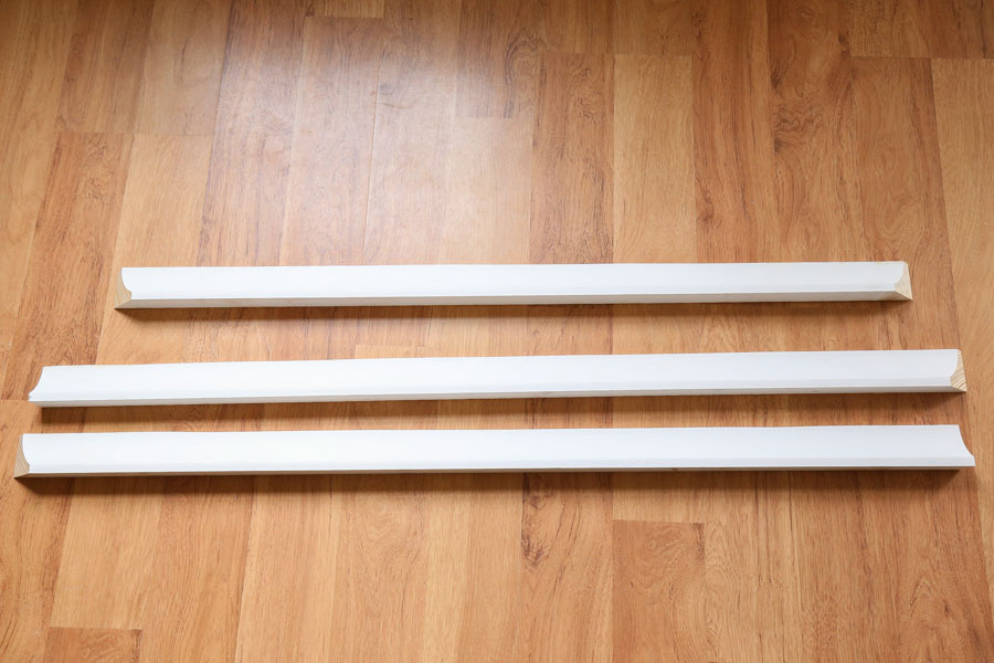 cut molding for fireplace trim