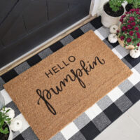 fall hello pumpkin DIY doormat made with Cricut