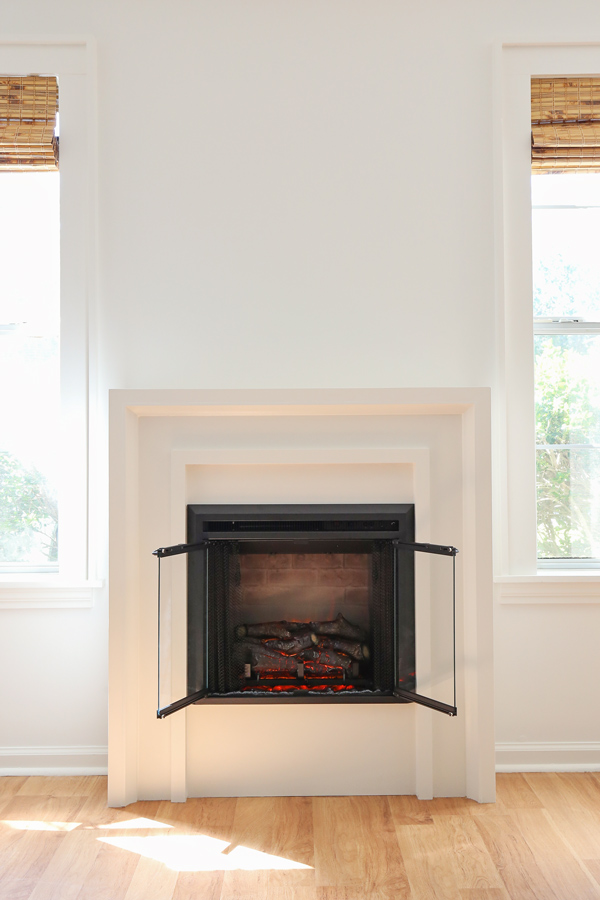 diy fireplace surround with electric fireplace
